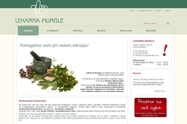 Obišči  http://www.lekarna-murgle.si