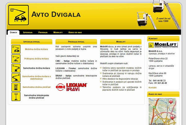 Obišči  http://www.mobilift.si