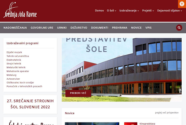 Obišči  http://www.srednjasolaravne.si