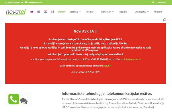 Obišči  https://novatel.si