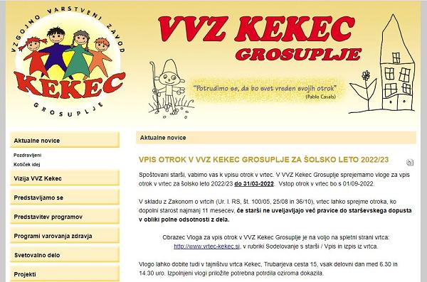 Obišči  http://www.vrtec-kekec.si