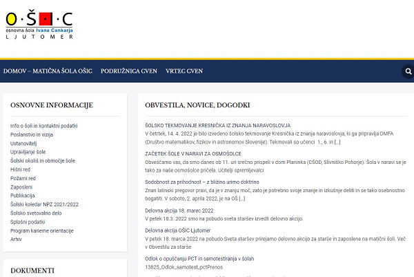 Obišči  http://www.osicljutomer.si