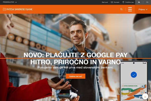 Obišči  https://www.intesasanpaolobank.si