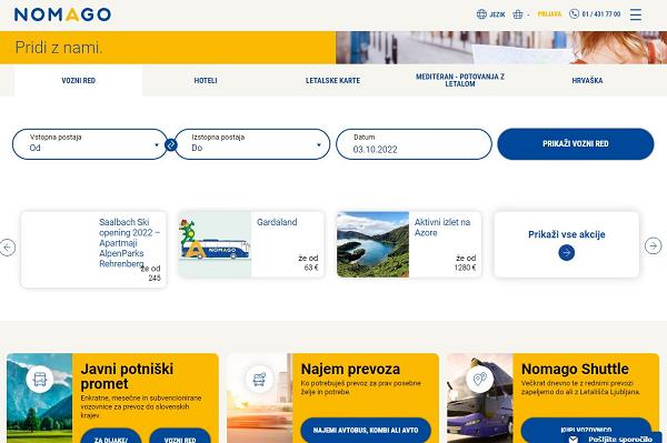 Obišči  https://www.nomago.si