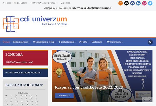 Obišči  http://www.cdi-univerzum.si