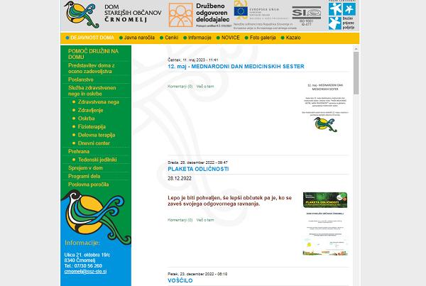 Obišči  http://www.domcrnomelj.si