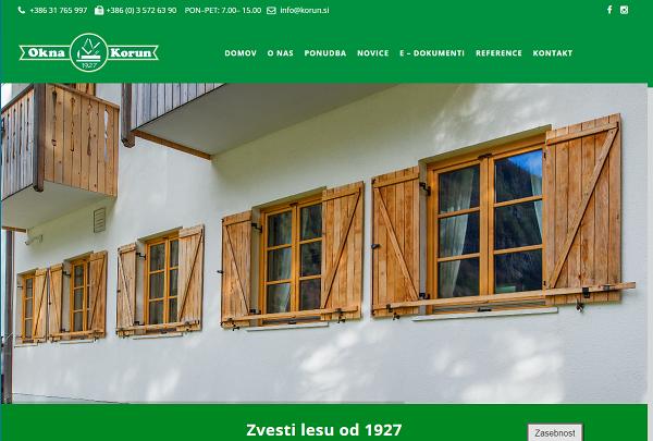 Obišči  http://www.korun.si
