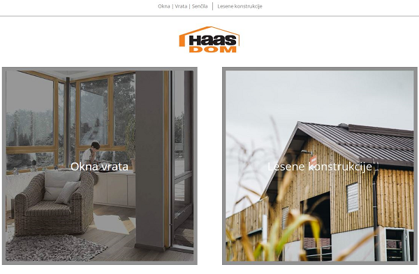 Obišči  https://www.haas-dom.si