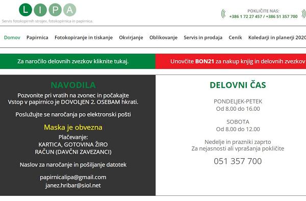 Obišči  http://www.papirnicalipa.si