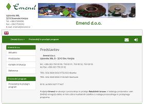 Obišči  http://www.emend.si