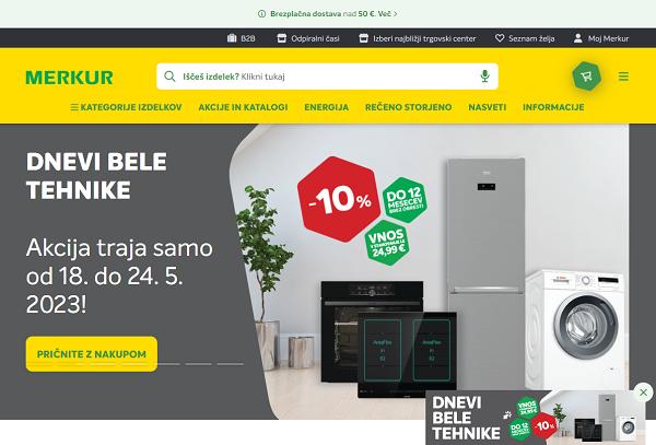 Obišči  https://www.merkur.si