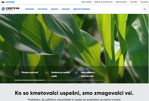 Obišči  https://www.corteva.si